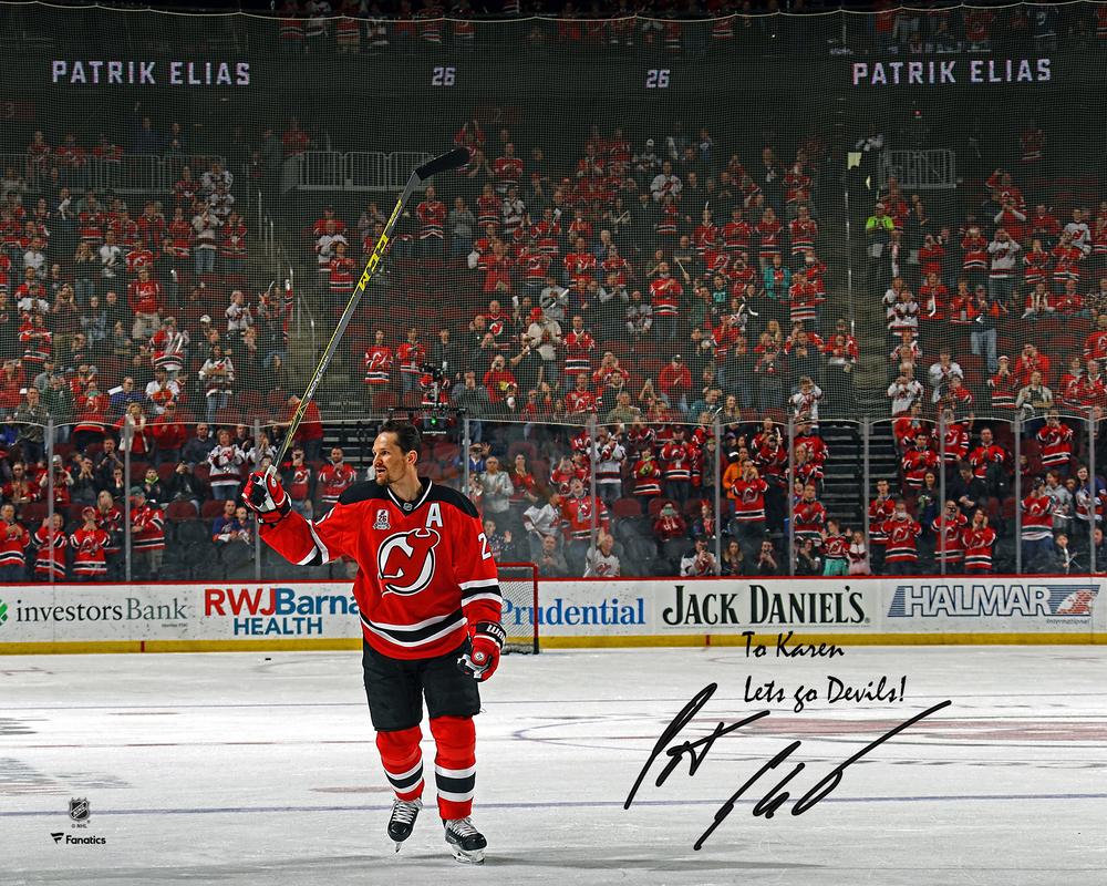 Patrik Elias New Jersey Devils Autographed Personalized 8