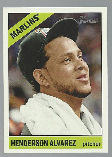 Photo of 2015 Topps Heritage #331A Henderson Alvarez