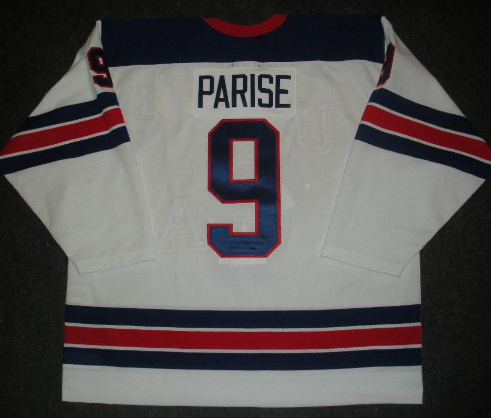 Zach Parise - Sochi 2014 - Winter Olympic Games - Team USA Throwback Game-Worn Jersey - Worn in 2nd and 3rd Periods vs. Slovenia, 2/16/14