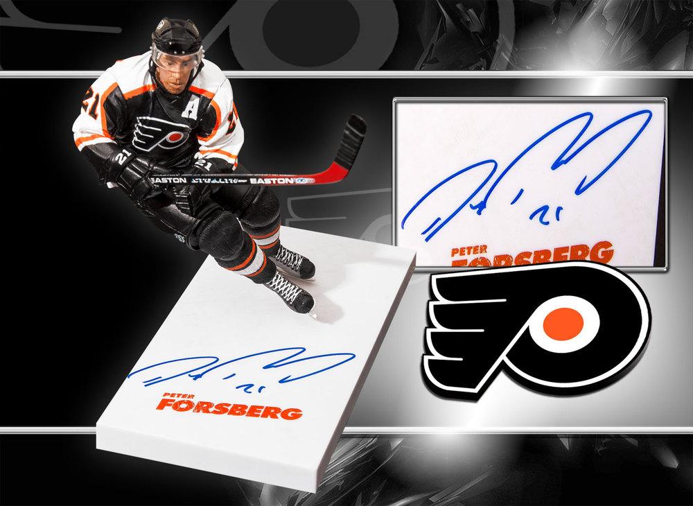 Peter Forsberg Philadelphia Flyers Autographed McFarlane Figurine