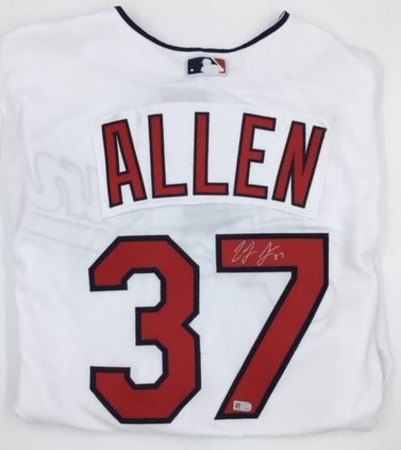 Cody Allen Autographed Authentic Indians Jersey