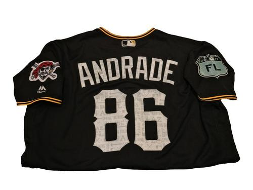 Photo of Heberto Andrade Team-Issued Spring Training Jersey