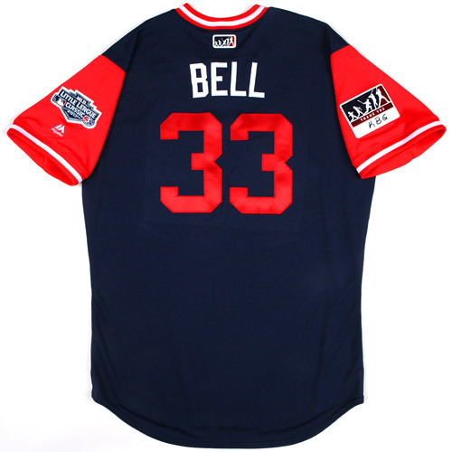 "Photo of St. Louis Cardinals Game-Used Little League Classic Jersey -  David ""Bell"" Bell #33"