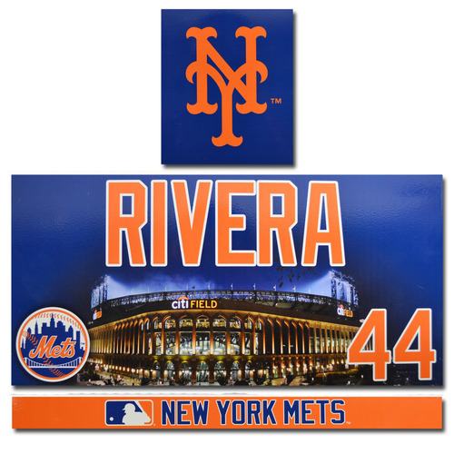 Photo of Rene Rivera #44 - Game Used Locker Nameplate Set - 2017 Season