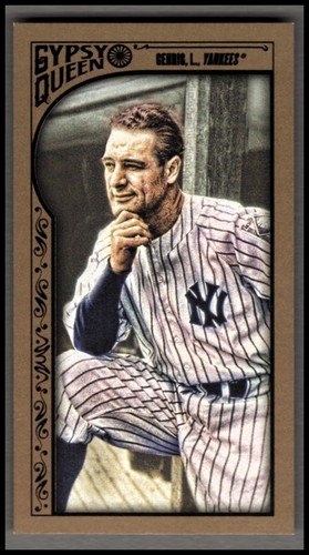Photo of 2015 Topps Gypsy Queen Mini Gold #39 Lou Gehrig