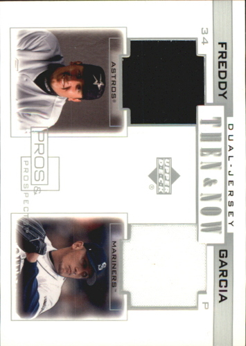 Photo of 2001 Upper Deck Pros and Prospects Then and Now Game Jersey #TNFG Freddy Garcia