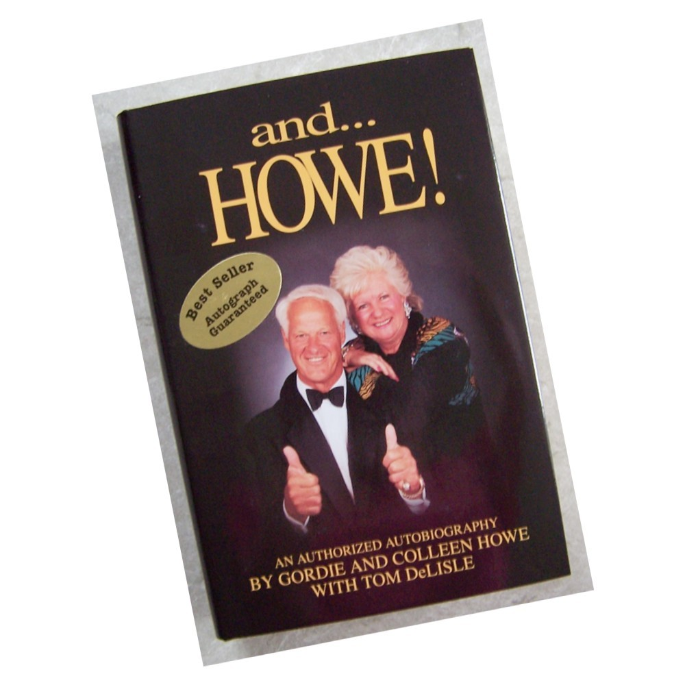 Gordie Howe and Colleen Howe Autographed Book
