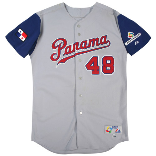 Photo of 2006 Inaugural World Baseball Classic: Carlos Maldonado (Panama) #48 Game-Used Road Jersey