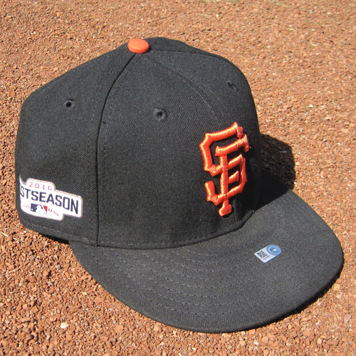 Photo of San Francisco Giants - Game-Used Postseason Cap - WC & NLDS - Brandon Belt #9 (7 1/8)