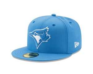 Toronto Blue Jays League Basic Light Blue Fitted Cap by New Era