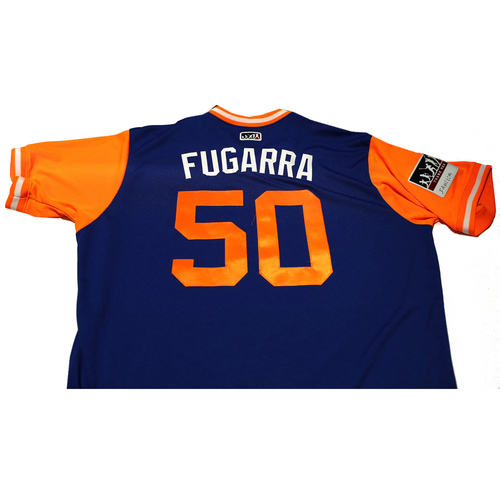 """Photo of Rafael """"Fugarra"""" Montero New York Mets Game-Used Players Weekend Jersey"""