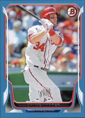 Photo of 2014 Bowman Blue #200 Bryce Harper 498/500 -- Nationals post-season