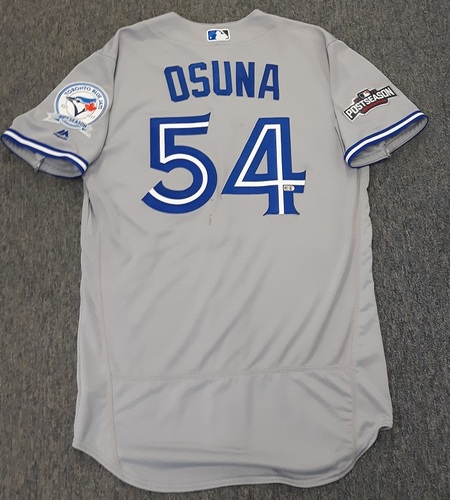 Photo of Authenticated Team Issued 2016 Postseason Jersey - #54 Roberto Osuna. Size 44.