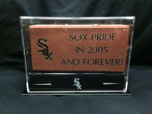 Photo of White Sox Charities: 4 x 8 Brick Display Case
