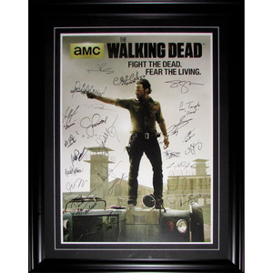 The Walking Dead Multi-Signed Framed Poster  - 24 Signatures