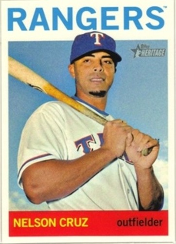 Photo of 2013 Topps Heritage #482 Nelson Cruz SP