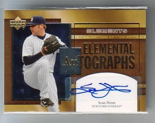 Photo of 2007 Upper Deck Elements Elemental Autographs #HE Sean Henn