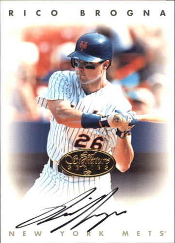 Photo of 1996 Leaf Signature Autographs Gold #35 Rico Brogna