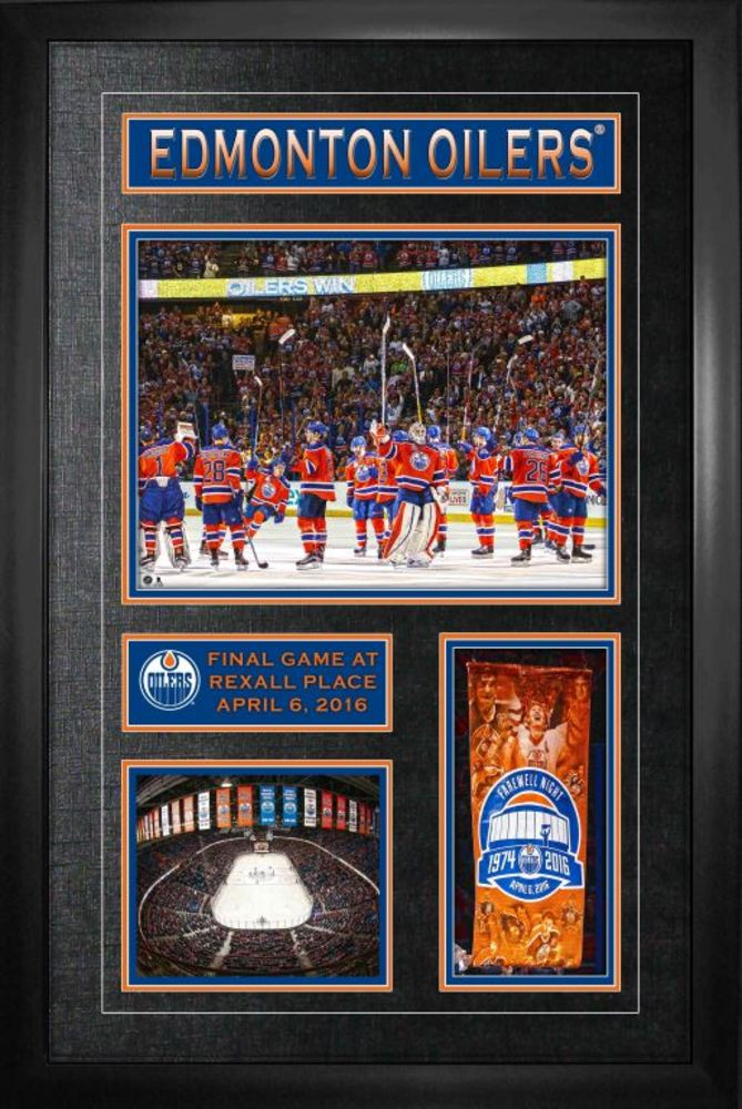 Edmonton Oilers - Framed Final Game at Rexall Place Collage