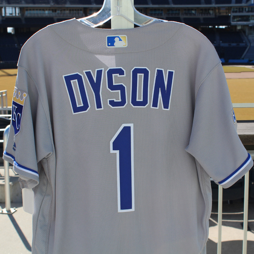Photo of Jarrod Dyson Game-Used Jersey (9/20/2016 - KC at CLE) (Size 42)