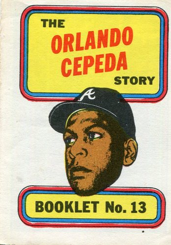 Photo of 1970 Topps Booklets #13 Orlando Cepeda