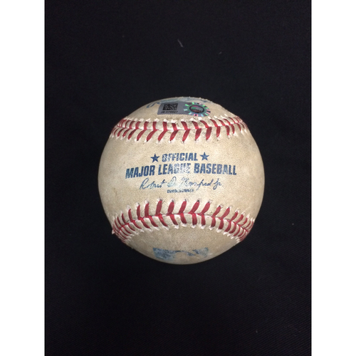 Photo of Game-Used Baseball from April 23, 2017: Chicago White Sox v. Cleveland Indians
