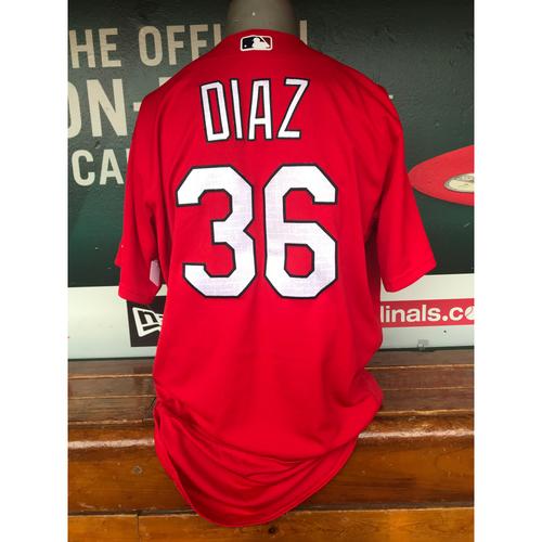 Photo of Cardinals Authentics: Aledmys Diaz Team-Issued Batting Practice Jersey