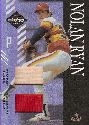 Photo of 2003 Leaf Limited TNT Prime #160 N.Ryan Astros Bat-Jsy