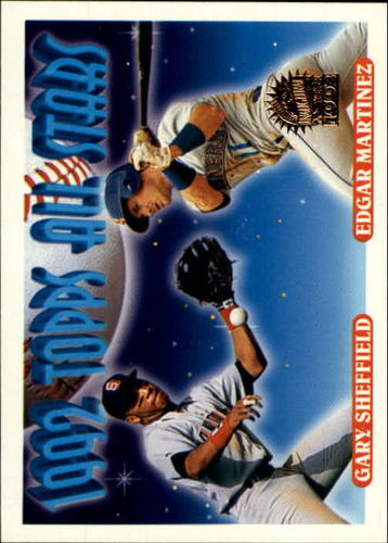 Photo of 1993 Topps Inaugural Marlins #403 Sheffield/E.Martinez AS