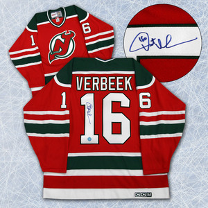 Pat Verbeek New Jersey Devils Autographed Retro CCM Hockey Jersey