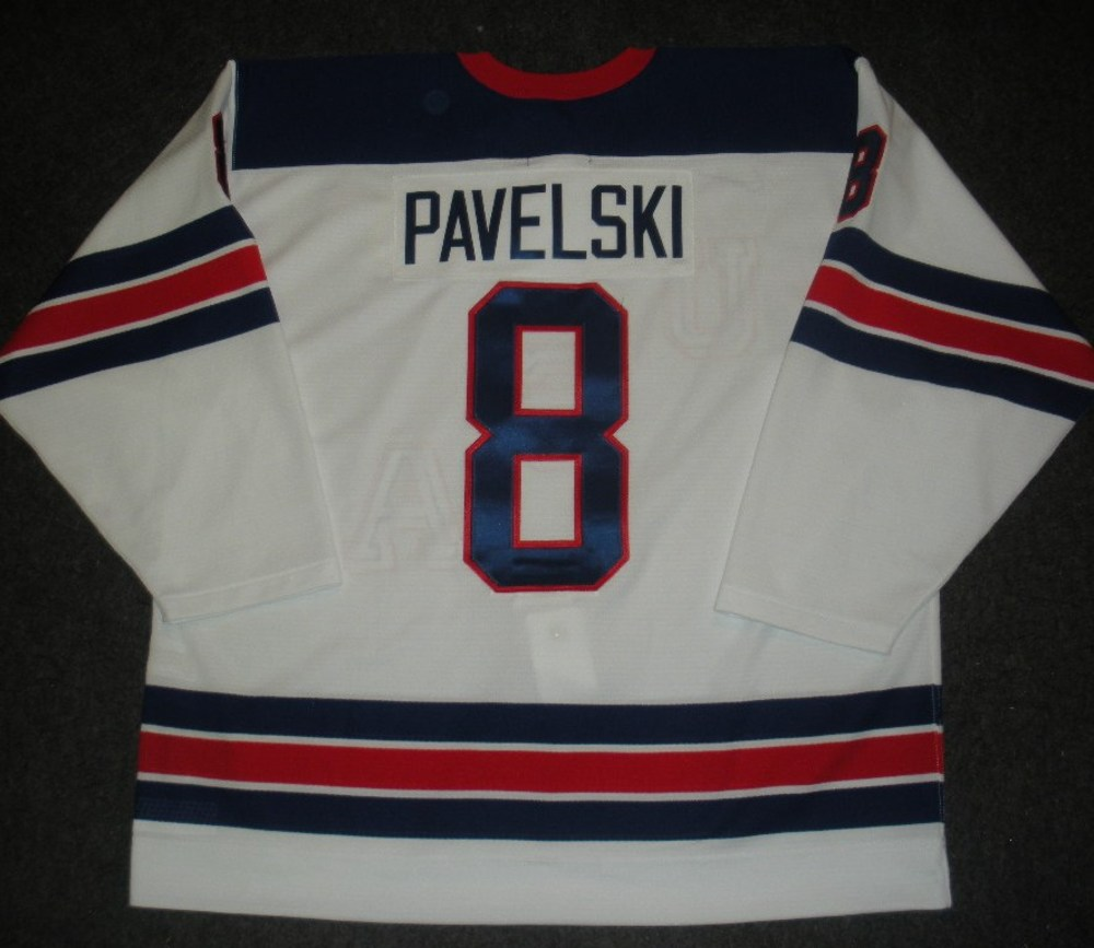 Joe Pavelski - Sochi 2014 - Winter Olympic Games - Team USA Throwback Game-Worn Jersey - Worn in 2nd and 3rd Periods vs. Slovenia, 2/16/14
