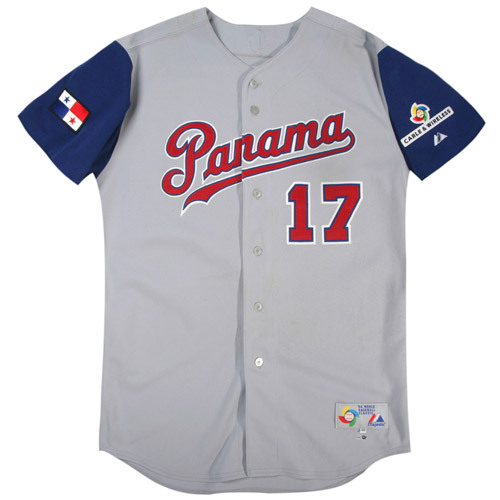 Photo of 2006 Inaugural World Baseball Classic: Freddy Herrera (Panama) #17 Game-Used Road Jersey
