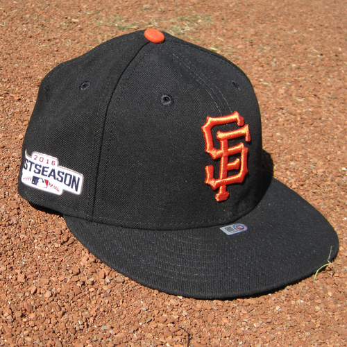 Photo of San Francisco Giants - Game-Used Postseason Cap - WC - Gregor Blanco #7 (7 1/8)