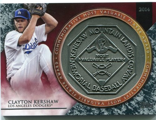 Photo of 2017 Topps Update MVP Award Relics #MVPRCK Clayton Kershaw