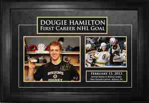 Dougie Hamilton - Signed & Framed 8x10 Etched Mat - Featuring 5x7 Photo 1st NHL Goal