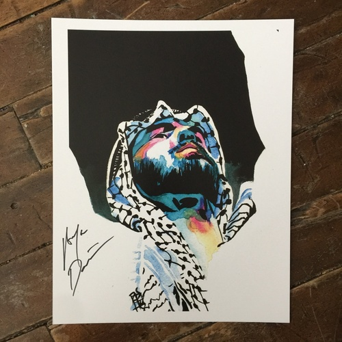 Photo of Ariya Daivari SIGNED 11 x 14 Rob Schamberger Print