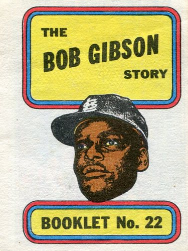 Photo of 1970 Topps Booklets #22 Bob Gibson