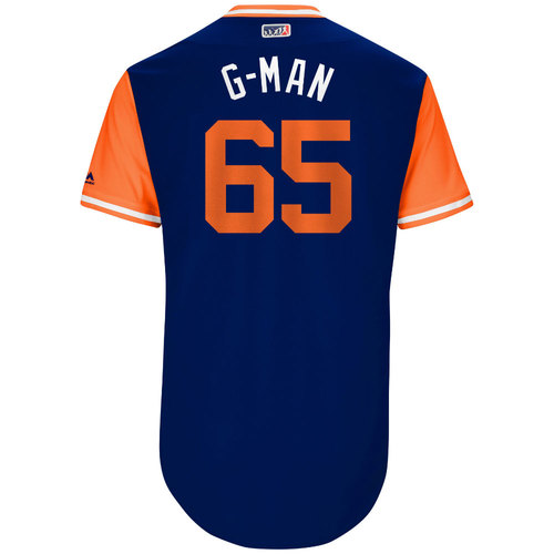 """Photo of Robert """"G-Man"""" Gsellman New York Mets Game-Used Players Weekend Jersey"""