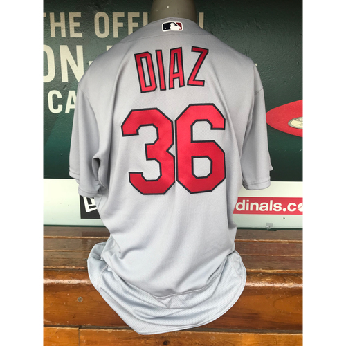Photo of Cardinals Authentics: Aledmys Diaz Team-Issued Road Jersey