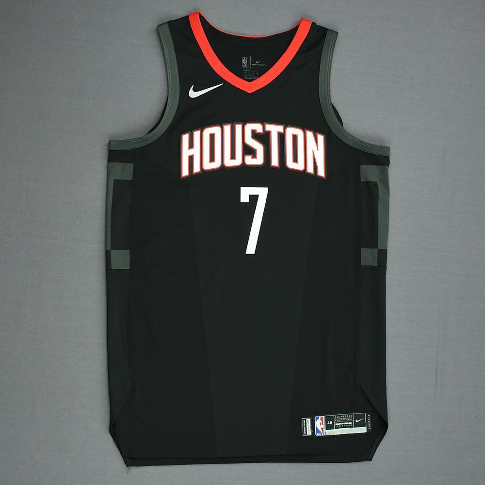 Joe Johnson - Houston Rockets - Game-Worn 'Statement' Jersey - 2017-18 Season