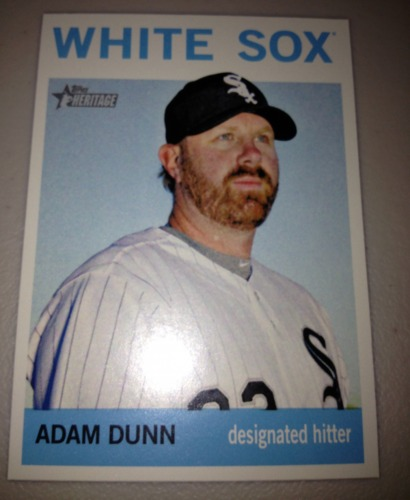 Photo of 2013 Topps Heritage #484A Adam Dunn SP