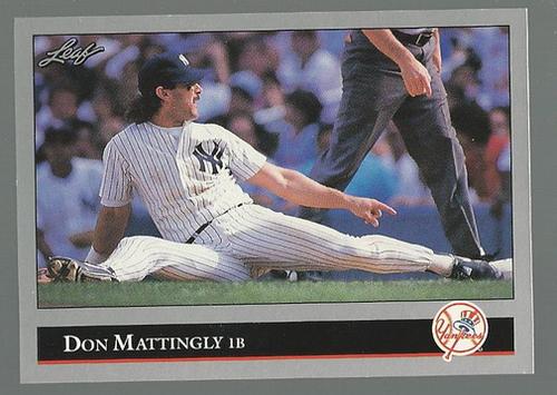 Photo of 1992 Leaf #57 Don Mattingly