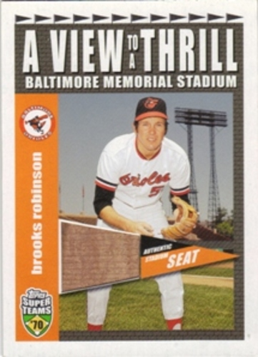 Photo of 2002 Topps Super Teams A View To A Thrill Relics #VTBR Brooks Robinson 2