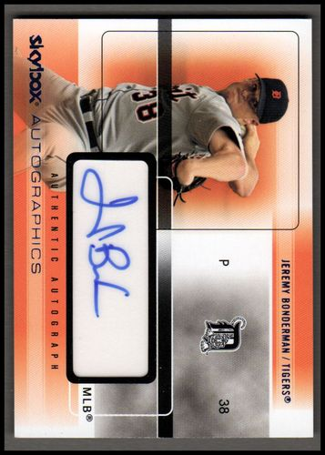 Photo of 2005 SkyBox Autographics Signatures Blue #JB Jeremy Bonderman/369 *