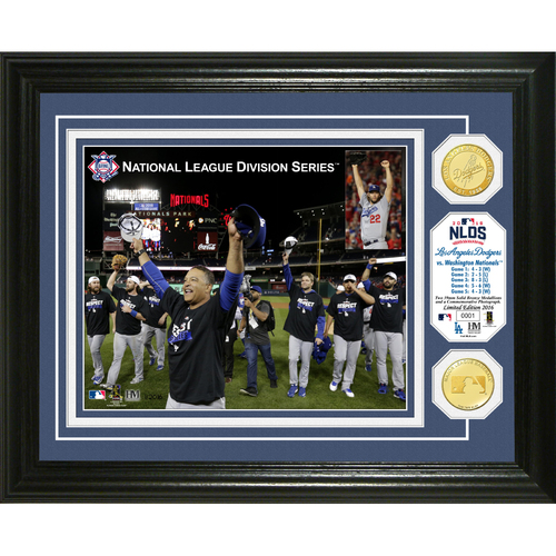 Photo of Serial #1! Los Angeles Dodgers 2016 NLDS Celebration Bronze Coin Photo Mint