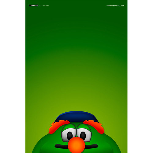 Photo of Minimalist Wally the Green Monster Art Print (Limited Edition #22/350)