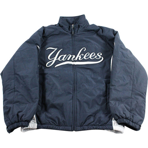 Photo of Marcus Thames New York Yankees 2016 Team Issued #63 Home Jacket (XL)