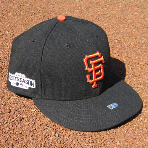 Photo of San Francisco Giants - Game-Used Postseason Cap - WC & NLDS - Javier Lopez #49 (7 5/8)