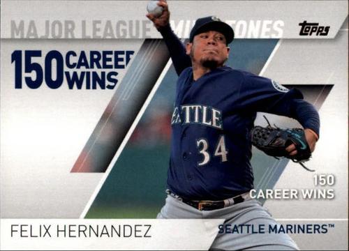 Photo of 2017 Topps Major League Milestones #MLM15 Felix Hernandez