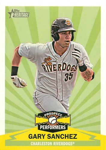 Photo of 2012 Topps Heritage Minors Prospect Performers #GS Gary Sanchez -- Yankees post-season